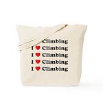 I Love Climbing (A lot) Tote Bag