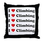 I Love Climbing (A lot) Throw Pillow