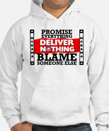"""Obama: Deliver Nothing"" Hoodie"