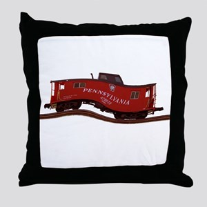 Pennsylvania Caboose Throw Pillow