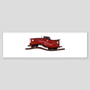 Pennsylvania Caboose Bumper Sticker (10 pk)