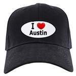 I Love Austin Black Cap