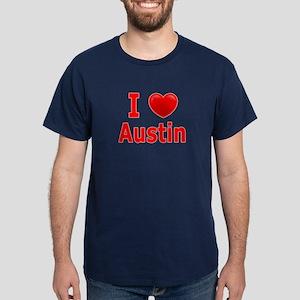 I Love Austin Dark T-Shirt