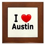 I Love Austin Framed Tile