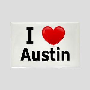 I Love Austin Rectangle Magnet