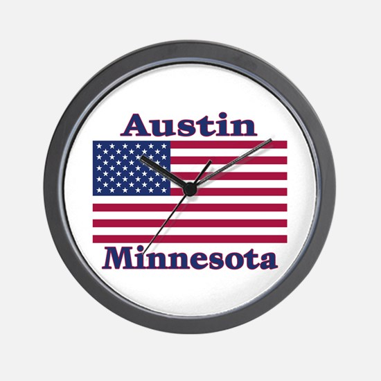 Austin Flag Wall Clock