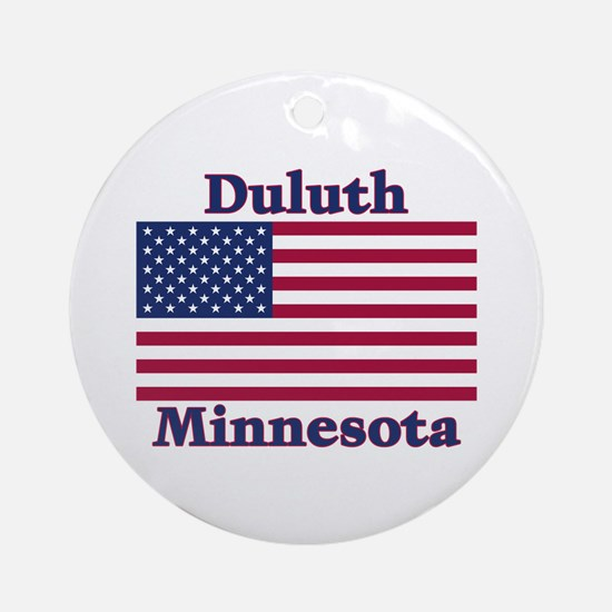 Duluth US Flag Ornament (Round)