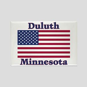 Duluth US Flag Rectangle Magnet