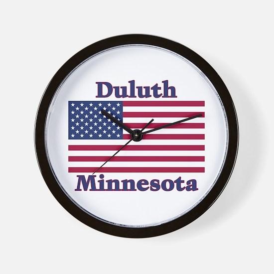 Duluth US Flag Wall Clock