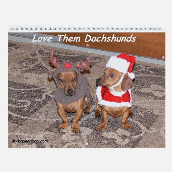 Love Them Dachshunds Calendar