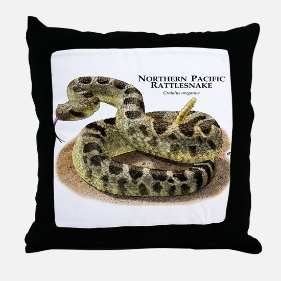 Northern Pacific Rattlesnake Throw Pillow