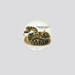 Northern Pacific Rattlesnake Mini Button