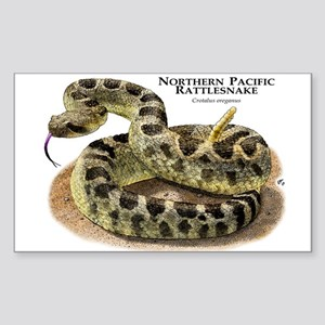 Northern Pacific Rattlesnake Sticker (Rectangle)