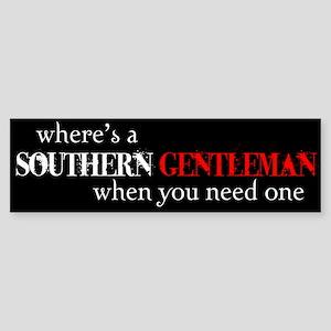 Southern Gentleman Bumper Sticker