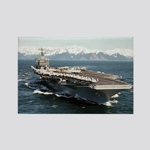 USS Abraham Lincoln Ship's Image Rectangle Magnet