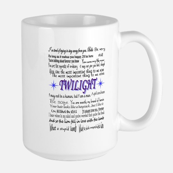 Twilight quotes Large Mug