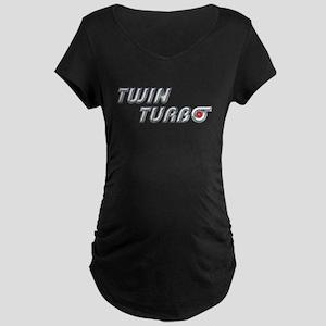 Twin Turbo Maternity Dark T-Shirt