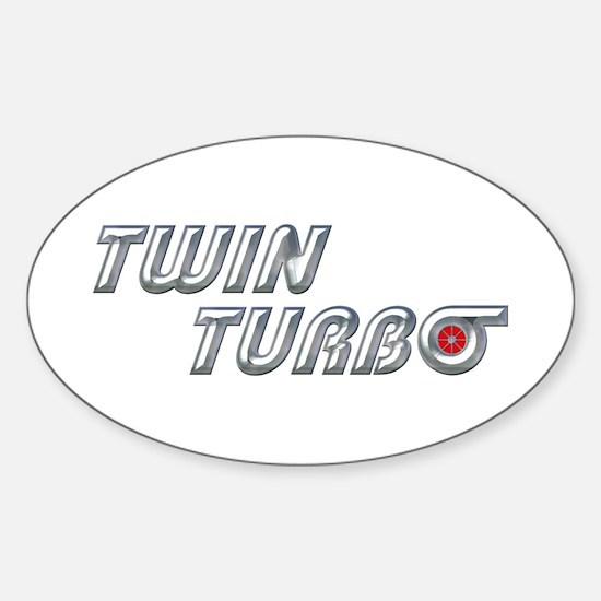 Twin Turbo Oval Decal