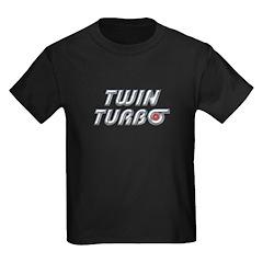 Twin Turbos Kids Black T-Shirt