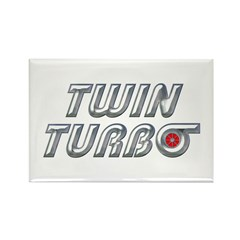 Twin Turbos Rectangle Magnet (10 pack)