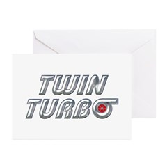 Twin Turbos Greeting Cards (Pk of 20)
