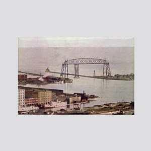 1905 Duluth Harbor and Aerial Rectangle Magnet