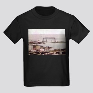 1905 Duluth Harbor and Aerial Kids Dark T-Shirt