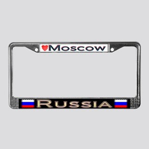 Moscow, RUSSIA - License Plate Frame