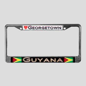 Georgetown, GUYANA - License Plate Frame