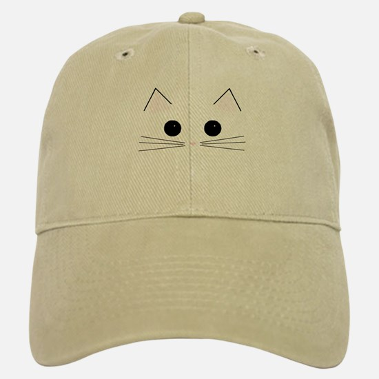 Kitty Face Baseball Baseball Cap