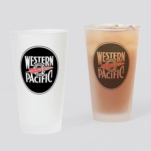 Round Western Pacific logo Drinking Glass