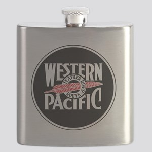 Round Western Pacific logo Flask