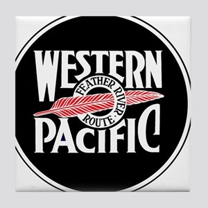 Round Western Pacific logo Tile Coaster