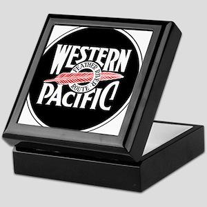 Round Western Pacific logo Keepsake Box