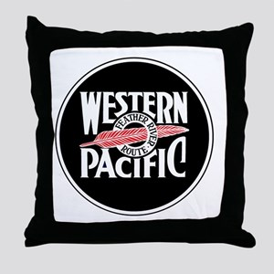 Round Western Pacific logo Throw Pillow