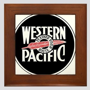 Round Western Pacific logo Framed Tile