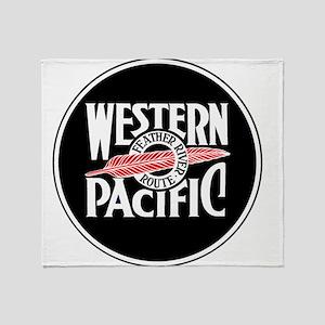 Round Western Pacific logo Throw Blanket