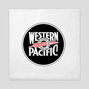 Round Western Pacific logo Queen Duvet