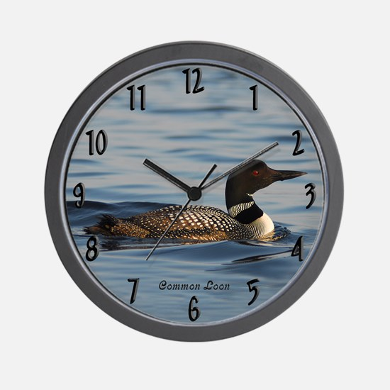 Common Loon Wall Clock