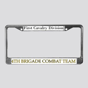 1ST CAV 4BCT License Plate Frame
