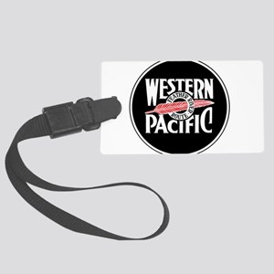 Round Western Pacific logo Large Luggage Tag