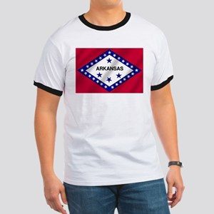 Arkansas State Flag Ringer T
