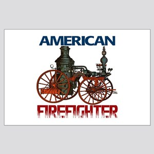 The American Firefighter Large Poster
