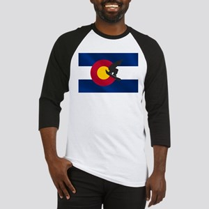Colorado Snowboard Flag Baseball Jersey