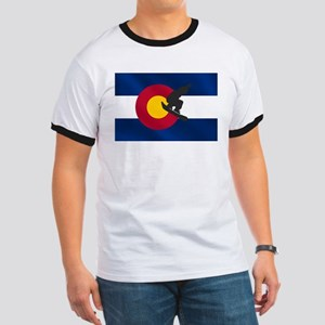 Colorado Snowboard Flag Ringer T