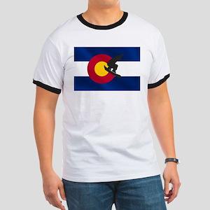 Colorado Snowboard Flag Ringer T