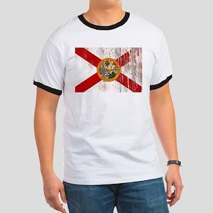 Florida Grunge Flag Ringer T