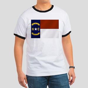 North Carolina Flag Ringer T