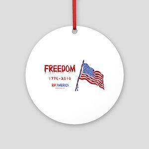 RIP Freedom Ornament (Round)