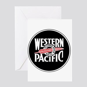 Round Western Pacific logo Greeting Cards